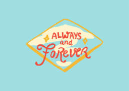 Always & Forever love - Cake Card - postcake