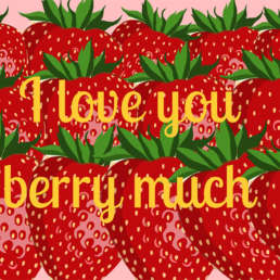 love berry much - Cake Card - postcake