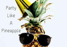 party pineapple - Cake Card - postcake