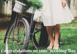 retro bike wedding - Cake Card - postcake