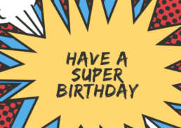 Superhero birthday - Cake Card - postcake