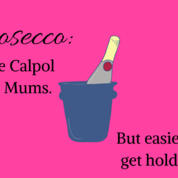Prosecco For Mums Cake