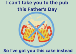 I Can't Take You To The Pub Father's Day Cake