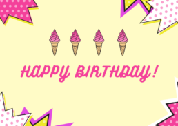 Ice Cream Birthday Cake Card