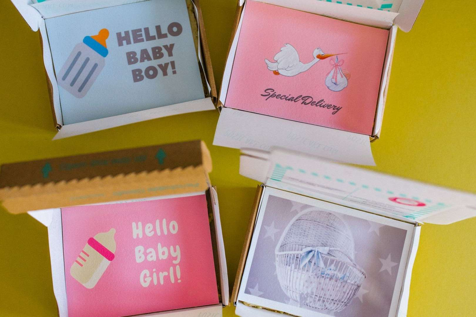 Image of letterbox cakes for baby gifts